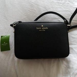 Kate spade clover nwt black small leather bag